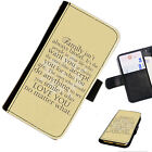 WORD27 FAMILY QUOTE PRINTED LEATHER WALLET/FLIP CASE COVER FOR MOBILE PHONE