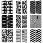 HEAD CASE BLACK AND WHITE PATTERNS LEATHER BOOK WALLET CASE FOR SAMSUNG PHONES 1