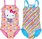 Girls New Hello Kitty Swimming Costume Swimsuit Swimwear Official Age 4-10 Years