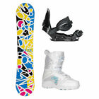 Joyride Letters White Venus Girls Complete Snowboard Package 2018