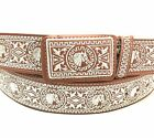 MENS WESTERN BELT. CINTO CHARRO. VAQUERO LEATHER BELT. CINTO BORDADO.