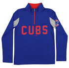 Outerstuff MLB Youth Boys Chicago Cubs 1/4 Zip Performance Long Sleeve Top, Blue on Ebay