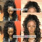 Curly Wigs Malaysian Remy Human Hair Lace Front Wig For Black Women Baby Hair 7A