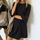 New Womens Hollow Out Fashion Sexy Dresses Ladies Evening Party Mini Loose Dress