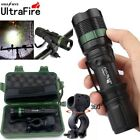 50000LM T6 LED ZOOMABLE Torches Case Tactical Light Bike LED 18650 Flashlight