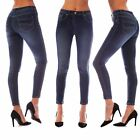 Plus Size WOMEN Jeans Ladies Faded Slim Fit LOW RISE Skinny Pants Trousers 8-26