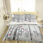 3D Snow Bird Deer 59 Bed Pillowcases Quilt Duvet Cover Set Single Queen US image