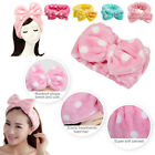 Внешний вид - NEW Blue Cute Soft Makeup Bowknot Dot Wrap Face Hair Headband Wash Shower Towel