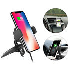 Qi Wireless Charger Car CD Slot Mount Holder For iPhone 8 Plus 8 X Galaxy Note 8