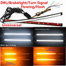Switchback Flowing Car DRL LED Knight Turn Signal Brake Light Strip Flexible