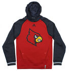 Adidas NCAA Men's Louisville Cardinals Sideline Player Hoodie, Red