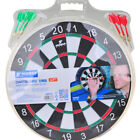 "Dart Board Fitness Funny Game Double Sided 2-in-1 12""-15""-17"" Plate Set Black"