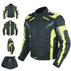Motorcycle Jacket CE Armored Textile Apparel Racing Thermal Liner All sizes