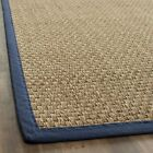 Safavieh Natural Fiber Seagrass NATURAL / BLUE Area Rugs - NF114E