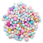 50Pcs Round Silicone Teething Beads DIY Nursing Mom Jewelry Baby Sensory Toy