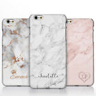 Personalised Marble Rose Gold Crown Heart Handwriting Name Phone Case for iPhone