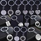 Love Heart Memorial Keychains Keyrings Key Chain Ring Jewelry Women Men Gift Pet