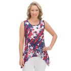 Women's Americana Sharkbite Tank Top, by Collections Etc