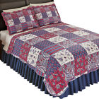 Windsor Floral Paisley Patchwork Quilt with Reversible Floral Pattern image