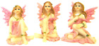 3 x Fairy Figure Ornament Pink Purple Blue or Yellow Set Small & Delicate Gift