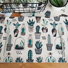 Green Plants Cotton Linen Insulation Bowl Placemat Dining Pad Western Table Mat