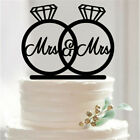 New Black Cake Topper Decoration Wedding Engagement Birthday Party Acrylic Stand