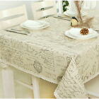 2018 Europe Letter Cotton Linen Decor Tablecloth Kitchen Dinner Table Cover GIFT