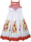 Girls New Summer Floral Cotton Dress Kids Sun Sleeveless Party Dresses Age 3-11Y
