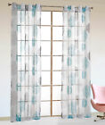 Home Living Room Bedroom Modern Pattern Yarn Dyed Window Curtain Voile Drapes