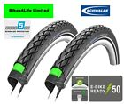 Schwalbe Marathon GreenGuard Touring Rigid Road Bike Tyre 700C x 25c Tube Option