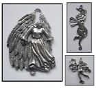 PEWTER CHARM 2 bail joiner ANGEL #1359 (44x36mm) #1363 (47x34mm) #1364 (60x34mm)