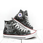 Nirvana Teen Spirit Custom Converse All Star sneakers handmade print rock shoes