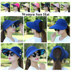 Kyпить Summer Women Wide Ponycap Anti-UV Sun Visor Hat High Bun Ponytail Foldable Cap на еВаy.соm