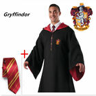 US Stock Harri Potter Cape Costume Gryffindor Robe Cloak With Tie Party Cosplay