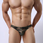 USA - LOW WAIST SEXY G STRING CAMOUFLAGE U CONVEX MALE UNDERWEAR BRIEF M L XL