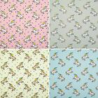 Pink Blue Grey KIDS UNICORN FABRIC Polycotton Craft Material METRE Fat Quarter