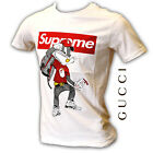 🐰 GUCCI Herren T-Shirt S M L XL XXL WHITE WEISS SUPREME RABBIT LOGO TSHIRT MEN