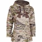 New Under Armour Womens ColdGear Big Logo Hoodie Snow Camo 1265757 Small, Large