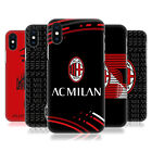 OFFICIAL AC MILAN 2018/19 CREST PATTERNS HARD BACK CASE FOR APPLE iPHONE PHONES