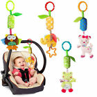 US Stock Baby Toys Soft Ring Plush Animal Bell Rattle Crib Toys Bed Hanging Doll