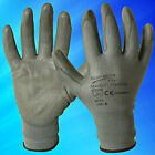 24 Pairs Grey PU Coated Work Gloves Mechanical Works Hand Safety Builders UK