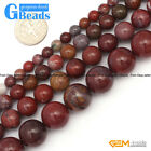 """Red Flower Agate Gemstone Round Beads For Jewelry Making Free Shipping 15"""""""