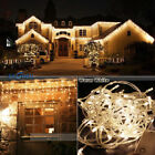 96-1000 LED Strand Christmas Indoor/Outdoor Icicle Curtain Light Lamp Warm White