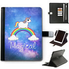 HAIRYWORM UNICORN STARS GALAXY DELUXE LEATHER 360 SWIVEL IPAD CASE, TABLET COVER