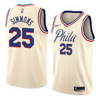 Nike 2017 NBA Philadelphia 76ers Ben Simmons Cream City Swingman Jersey Sz S XL