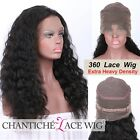 Deep Wave Remy Hair 360 Lace Wig Pre Plucked Indian Remy 360 Human Hair Lace Wig