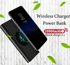 New 20000mah Power Bank External Battery quick charge Wireless Charger Power