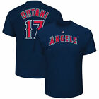 Majestic Shohei Ohtani Los Angeles Angels Navy Name & Number T-Shirt