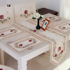 Runner New Table Poinsettia Decor Centre Embroidered Floral Lace Cloth Fabric