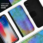 Lined 4453 Absorbed Watercolor Texture iPhone Leather Credit Card Wallet Case
